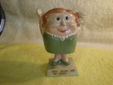 "Vintage Fat Woman ""Eat, Drink and Be Merry""  Bobble Head Nodder FR/SHP"