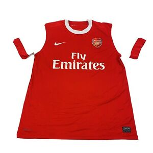 Arsenal Soccer Jersey Adult Large Red White Futbol Football Lightweight Mens