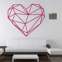 Geometric Heart Wall Sticker Vinyl Art Decal Removable Creative Sticker
