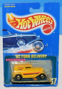 HOT WHEELS 1989 BLUE CARD '32 FORD DELIVERY #67 W+
