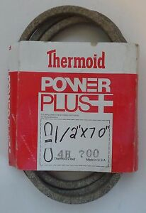 """Thermoid V-Belt 4H-700 Replaces 107647 1576 271-69 8231 9691 (1/2""""X70"""")"""