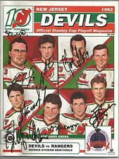 1992 New Jersey Devils Stanley Cup Magazine Autographed by 9 Stevens, Daneyko +