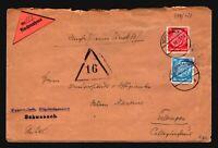 Germany 1938 Hindenberg Nachnahme Cover (5) - Z17128