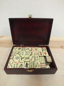 Chinese MahJong Set in Original Wooden Case - Mah Jong (Hol)