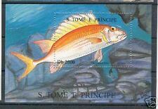 PESCI - FISH S. TOME' E PRINCIPE 1996 c block