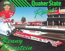 1990 Kenny Benstein Quaker State Top Fuel NHRA postcard