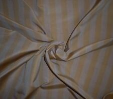SCALAMANDRE Silk Vertical Stripe Woven Gold Taupe 1+ yards New