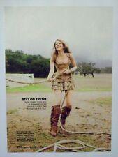 2010 Magazine Print Advertisement Page Sexy Woman Fringed Boots Dress Corset Ad