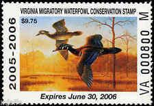 "VIRGINIA #18 (""M"" SUFFIX) 2005 STATE DUCK WOOD DUCKS by Guy Crittenden"