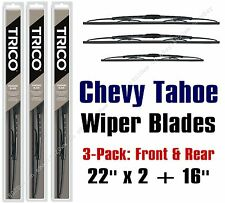 2000-2006 Chevrolet Chevy Tahoe Standard Wipers 3pk Front/Rear 30221x2/30160