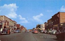 East Moline Illinois~Downtown~Ben Franklin~Loans~NICE Cars~Woody~1953 Postcard