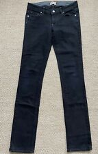 Paige Blue Heights Straight Leg Jeans Sz 27 Black