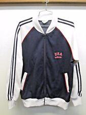 EUC! Adidas warmup Jacket USA Run DMC Era Navy White red piping L Taiwan VTG