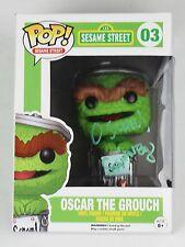 Caroll Spinney Oscar the Grouch Sesame Street Signed Autographed Funko POP RARE