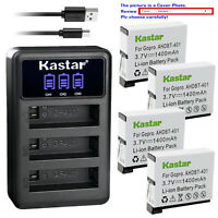 Kastar Battery Triple Charger for GoPro AHDBT401 GoPro HERO4 Black Action Camera