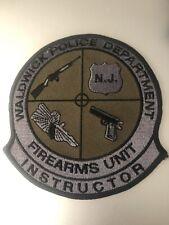 New Jersey  Police -Waldwick  PD firearms Unit  Police Patch
