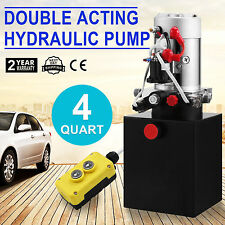 3 Quart Double Acting Hydraulic Pump 12v Dump Trailer - Metal Reservoir Sell