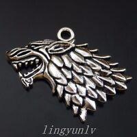 10 Pieces Silver Tigerish Lion Charms Pendants 35x26mm Vintage Jewelry 39984