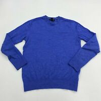 Banana Republic Sweater Mens S Blue Crew Neck Extra Fine Merino Wool Lightweight