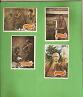 #D318. #9. FOUR SCANLENS 1975 PLANET OF THE APES TV CARDS - #10, 19, 20, 21