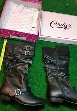 Girls Candies black knee high fashion boots size 5 new black