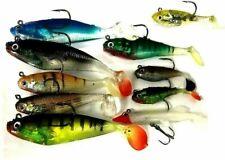 10 X Mixed Soft Pike Lures,Pike Baits, Pike Rigs, Pike fishing lures, pike plugs