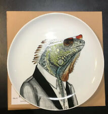 West Elm Rachel Kozlowski Dapper Animal Plate IGUANA New & Boxed Collectible