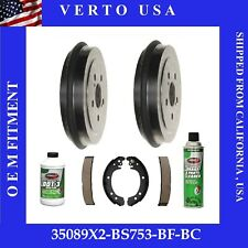 REAR KIT Left /& Right Premium OE Replacement Brake Drums /& Shoes 35089 S832