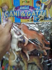 kit gioco animali piccoli cani e gatti animal toy  giocattolo plastica
