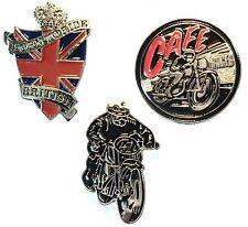 Classic 1960's Rocker Biker Metal Badges TT Cafe Racer Born To Ride Motorbike