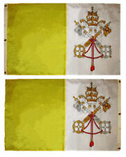 3x5 Embroidered Sewn Vatican City Double Sided 300D Nylon Flag 3'x5'