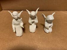 New ListingLot Of 3 White Goebel Or Hummel Sacrart Angels All Mint
