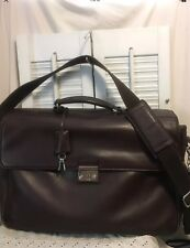 Coach Locking Leather Briefcase Business Crossbody Work Shoulder Bag 5307  Brown db3ee00324348