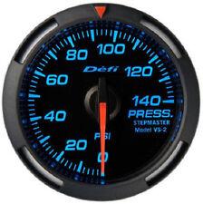 Defi Racer Oil & Fuel Pressure Gauge 0 to 140PSI 52mm w/ Blue LED DF06601 NEW