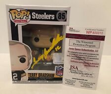 Terry Bradshaw Signed Pittsburgh Steelers Legends Funko Pop Vinyl Figure #85 JSA