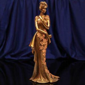 Juliana Art Deco Raffles Collection Gold Lady Figurine / Ornament.New.60488