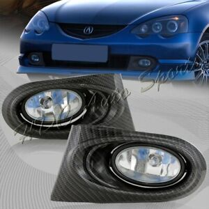 For 2002-2004 Acura RSX DC5 Clear Lens Bumper Fog Driving Lights Lamps + Switch