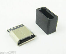 50sets Micro USB 5pin B Type Female Jack Socket Connector With Plastic Cover