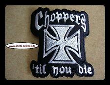 Choppers Till You Die, Patch, aufbuegler, Badge, Iron On, WCC, Vest