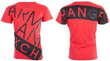 Armani Exchange Mens S/S T-Shirt BIAS Designer RED BLACK Casual S-2XL $45