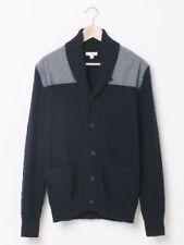 GAP Men's Mixed Media Shawl-Collar Sweater Cardigan Sz S Navy (16114)