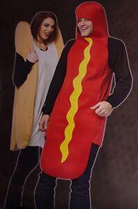 Adult Mens Womens Couples Costume Hot Dog Weiner Bun Halloween Costume S M L NEW