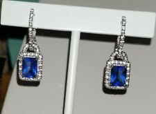 Kays Kay Jewelers® sterling silver blue sapphire charm dangle hoop Earrings