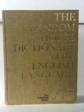HUGE Book Random House Dictionary of the English Language Unabridged 1967/6