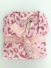 Victoria Secret Satin Afterhours Pajama PJ Top Bottom Pink Leopard Sleep Set M.R