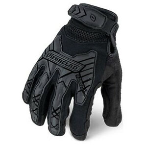 Ironclad Command Tactical Impact Black Tradie Builders Work Gloves Construction