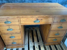 More details for antique pitch pine desk, lovely condition a few marks but in great condition.