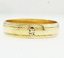 Vintage 9Carat Yellow Gold Diamond Wedding Ring (Size M) 5mm Width