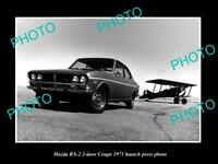 OLD POSTCARD SIZE PHOTO OF 1971 MAZDA RX-2 ROTARY COUPE LAUNCH PRESS PHOTO