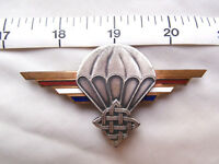Croatia Airborne Parachutist wings Metal brevet Badge.